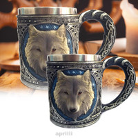 Animal Cartoon Stainless Steel Lining 3D Wolf Mug