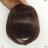 Loving ❤ Fringe Clip In On Bangs Straight Hair Extensions brown
