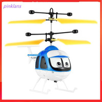 QKC Induction Flying Toys Mini RC Helicopter Cartoon Remote Control