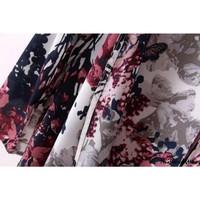 ღtwღWomen Print Floral Kimono Loose Casual iffon Jacket Coat