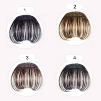 Clip on Front Hair Extensions Neat Bang Fringe Clip In wig rambut