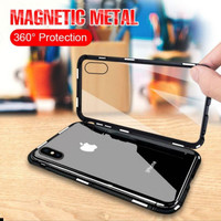 Casing Samsung Galaxy A20 Phone Case Magnetic Magnet Metal Glass