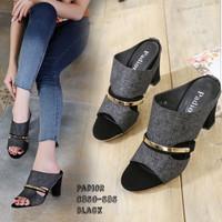Sandal sendal high heels wanita DD01 model selop tinggi 7cm