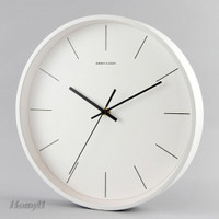Nordic Minimalist Wall Clock Analog Metal Frame Analog Silent Clock