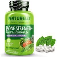 NATURELO Bone Strength 120 Cap - Plant-Based Calcium, Magnesium,