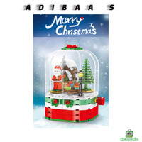 Compatiblelego Creative Christmas Theme Building Blocks Toys 6Years DI