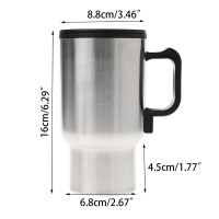 SUN 12V Car Heating Cup Stainless Steel Travel Electric Kettle In M483