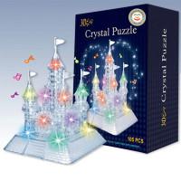 Yoyo Mainan Puzzle Istana Kristal 3D Transparan untuk Anak