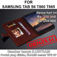 Case Samsung Tab S6 T860 T865 casing leather kulit FLIP COVER WALLET