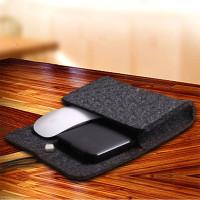 Tas Pou Pelindung Bahan Felt Lembut Untuk arger Power Adapter Mouse