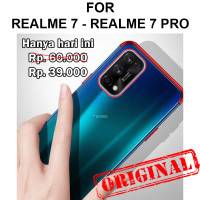 Case Realme 7 - 7 Pro softcase casing tpu ultra thin clear TPU PLATING
