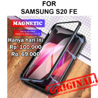 Case Samsung S20 FE casing cover tempered glass metal bumper MAGNETIC
