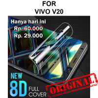 Vivo V20 anti gores hp full layar screen not tempered glass HYDROGEL