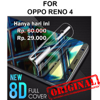 Oppo Reno 4 anti gores hp full layar gel not tempered glass HYDROGEL