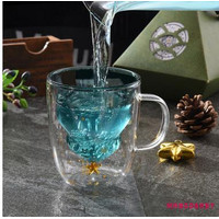 MG-Double-layer Glass Cup Christmas Tree Snowflake Five-pointed S L185