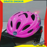 helm sepeda anak perempuan pacific little pony