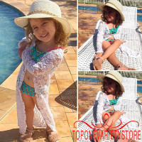 IN.-Fashion Baby Girls Sunscreen Floral Lace Bea Dress Outerwear