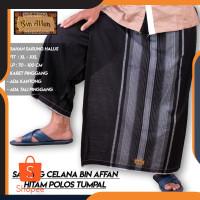 Sarung Celana Bin Affan Hitam / Merah / Biru / Coklat - Hitam h78
