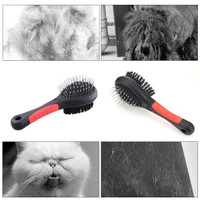 new Pet Brush Comb Grooming Dog Cat Double Sided Sisir Anjing Kucing