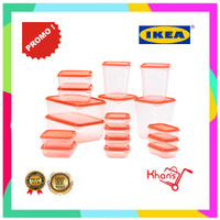 TOPLES IKEA PRUTA SET 17 TOPLES PLASTIK FOOD CONTAINER WADAH MAKANAN F