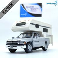 Diecast Mobil Kinsmart Dodge Ram Truck Camper Silver Murah M SCKC51