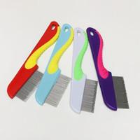 new Sisir Kutu Serit Kucing & Anjing Stainless Pet Grooming Comb