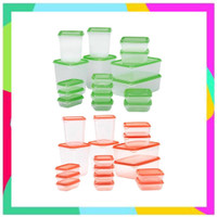 821 Pruta 17 pcs Toples Kontainer Makanan BPA Free IKEA Food Container