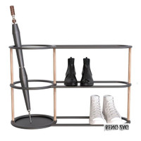 Krisbow Turbular Rak Sepatu Dan Payung 78x30x47.5 Cm