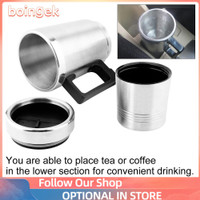 350ML 150ML Stainless Steel Car Electric Kettle Coffee Tea Thermos