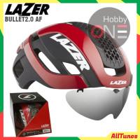 LAZER HELMET BULLET 2.0 RED Asian Fit Lens Led Lb - Helm Sepeda