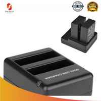 SHOOT Travel Charger Baterai 2 Slot untuk GoPro Hero 4 - AHDBT-401 -