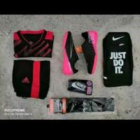 paket komplit Jersey Sepatu futsal Nike tiempo