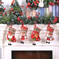 Kaus Kaki Gantung Motif Santa Claus Untuk Dekorasi Pohon Natal