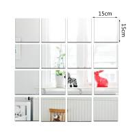 9pcs Stiker Dinding Cermin Bentuk Kotak Untuk Ruang Tamu/kamar Tidur