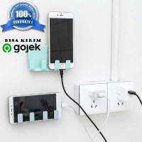 Gantungan Tempel Smartphone / Kuat / Tempat Charger HP / 4 hook Hanger