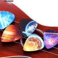 💎 10 pcs Aksesoris Musik Universe Planet Gitar Pilihan Campuran