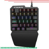 mechanicaI keyboard/NKER Single Hand Mechanical Gaming Keyboard RGB K9