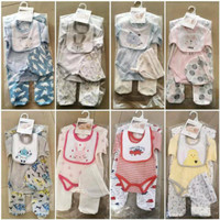 sleepsuit baju bayi 4in1 jumper bayi import topi plus slabber set baju