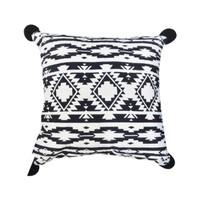 ORIGINAL arthome sarung bantal sofa monochrome 45x45 cm - hitam/putih