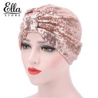 Topi Headwrap Aksen Sequin Shiny Gaya Indian Untuk Wanita Muslim 2