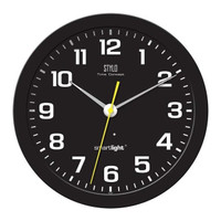 Jam Dinding Stylo Glow in The Dark Diameter 34cm Sweep dengan SmartLig