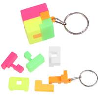 Mainan Kubus Rubik Mini dengan Gantungan Kunci untuk Edukasi Anak