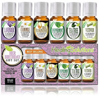 Healing Solutions Essential Oil Birthday Gift for Her Set 100%
