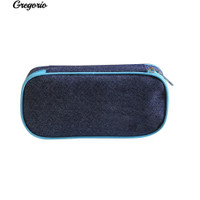 Gregorio ic Pencil Case Bag Kapasitas Besar Canvas Pen Box