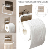 Tissue Roll Rack Self Adhesive Tissue Holder Pun-free Sticky Hanging
