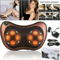 New Electric Lumbar Neck Back Massage Pillow Massager Kneading