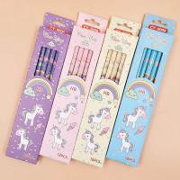 12Pcs / Set Pensil Gambar n Unicorn untuk Sekolah / Kantor