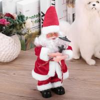 WONDERFULL EG Boneka Santa Claus Elektrik Berdiri untuk Dekorasi