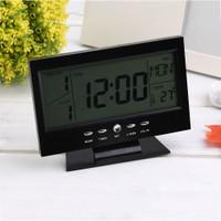 WONDERFULL Elektronik Rumah: Jam Meja dengan Layar LCD Fungsi