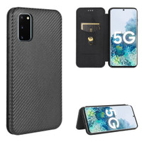 Luxury Carbon Fiber PU Leather Casing Samsung Galaxy S20 FE 5G 4G L155